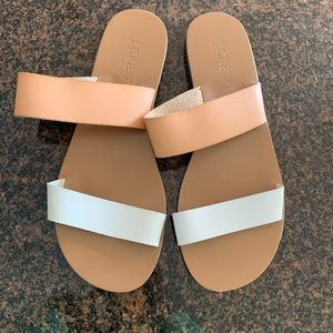 like new j crew woman's leather sandals size 7